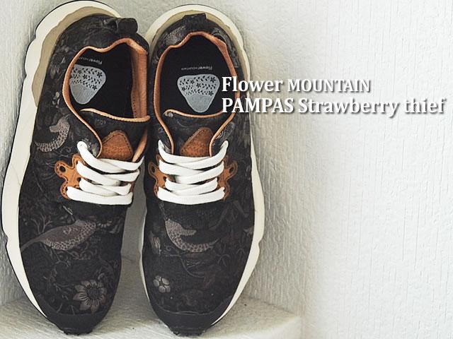 Flower MOUNTAIN フラワー マウンテン PAMPAS Strawberry thief パンパス ストロベリーシーフ BLACK ブラック 靴 スニーカー シューズ 【あす楽設定】【smtb-TD】【saitama】