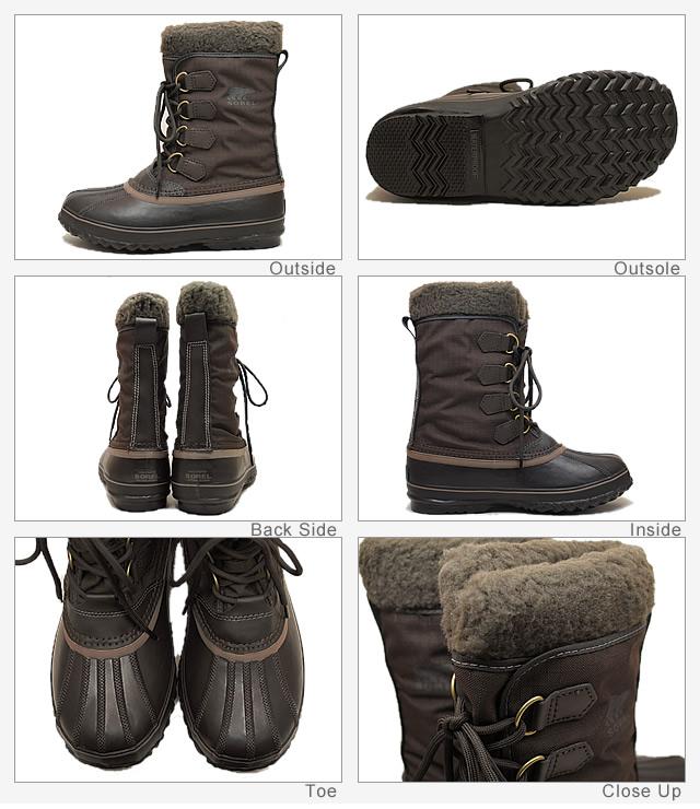 SOREL (밤색) 1964 PAC NYLON (1964 팩 나일론) 스페인 가죽 [신발/겨울 부츠/신발]