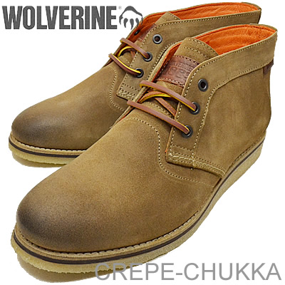 1ae668e73af WOLVERINE (Wolverine) CREPE-CHUKKA/JULIAN (クレープチャッカ/Julian) TAUPE (taupe)