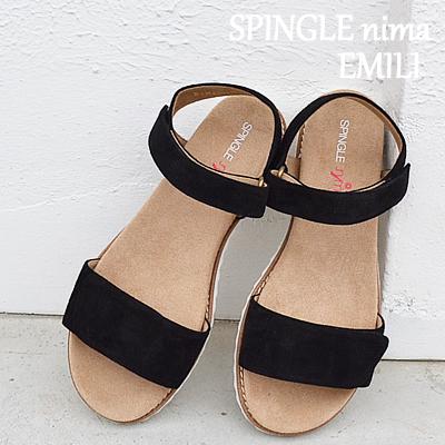 【あす楽対応】【返品無料対応】 SPINGLE MOVE スピングルムーヴ スピングルムーブ SPINGLE nima スピングルニーマ EMILI NIMA-808 BLACKブラック 靴 レディースシューズ サンダル スピングル 【smtb-TD】【saitama】