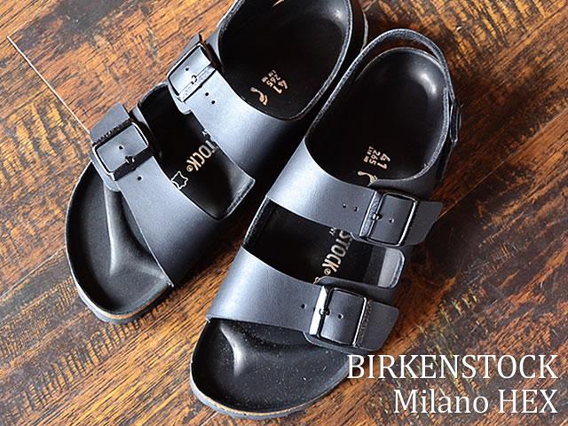 BIRKENSTOCK ビルケンシュトック Milano HEX ミラノ HEX BLACK ブラック 靴 サンダル シューズ  【smtb-TD】【saitama】