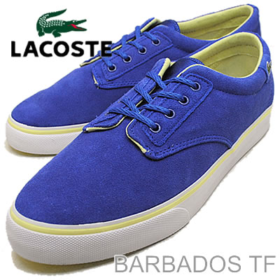 907a28c61 LACOSTE (Lacoste) BARBADOS TF (TF Barbados) DK BLU LT YLW (dark blue   light  yellow)  shoes  amp  Sneakers Shoes