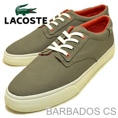 LACOSTE (Lacoste) BARBADOS CS (CS Barbados) DARK GREY/RED (dark grey/red) [shoes & Sneakers Shoes]