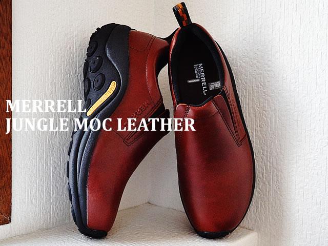 【あす楽対応】MERRELL メレル JUNGLE MOC LEATHER ジャングルモックレザー DARK BROWN ダークブラウン 567117 靴 スニーカー スリップオン スリッポン シューズ