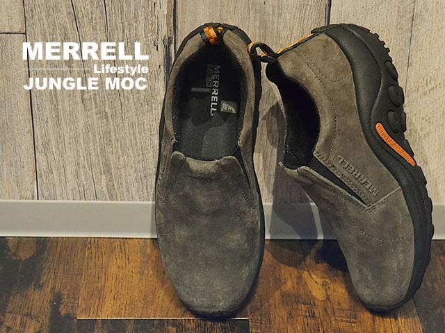 【あす楽対応】MERRELL メレル JUNGLE MOC ジャングルモック GUNSMOKE ガンスモーク 【60787/60788】 靴 スニーカー スリップオン スリッポン シューズ
