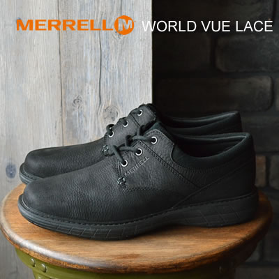【あす楽対応】MERRELL メレル WORLD VUE LACE ワールド ビュー レース BLACK ブラック 靴 コンフォート スニーカー シューズ