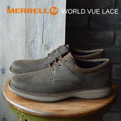 【あす楽対応】MERRELL メレル WORLD VUE LACE ワールド ビュー レース BLACK SLATE ブラック スレート 靴 コンフォート スニーカー シューズ