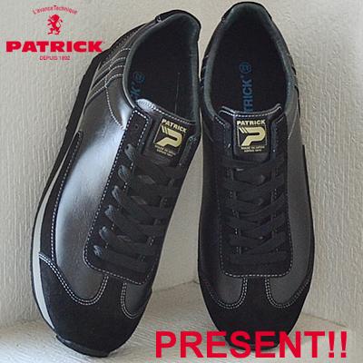 【返品無料対応】【あす楽対応】 PATRICK パトリック BOSTON-L II ボストン・レザー 2 BLK ブラック 靴 スニーカー シューズ 【smtb-TD】【saitama】
