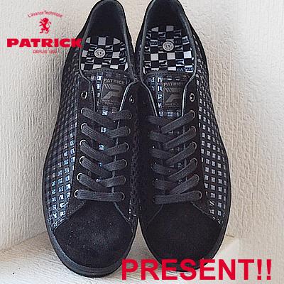 【返品無料対応】【あす楽対応】 PATRICK パトリック EPINAL エピーナル BLK ブラック 靴 スニーカー シューズ