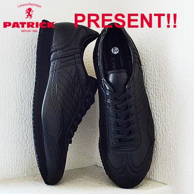 【返品無料対応】 PATRICK パトリック TINKER-WP ティンカー・ウォータープルーフ BLK ブラック 靴 スニーカー シューズ 【smtb-TD】【saitama】 【あす楽対応】