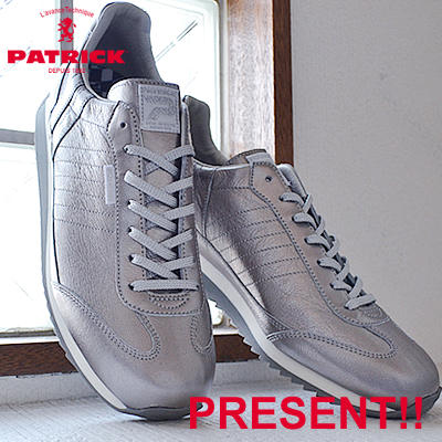 【返品無料対応】【あす楽対応】 PATRICK パトリック GLISTER-M グリスター・マラソン SLV シルバー 靴 スニーカー シューズ 【smtb-TD】【saitama】