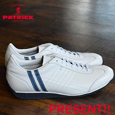 【あす楽対応】【返品無料対応】 PATRICK パトリック PAMIR パミール WH/SX ホワイト/サックス 靴 スニーカー シューズ 【smtb-TD】【saitama】