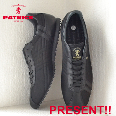 【返品無料対応】【あす楽対応】 PATRICK パトリック SULLY-LN シュリー・リモンタナイロン BLK ブラック 靴 スニーカー シューズ