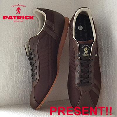【返品無料対応】【あす楽対応】 PATRICK パトリック SULLY-LN シュリー・リモンタナイロン CHO チョコ 靴 スニーカー シューズ