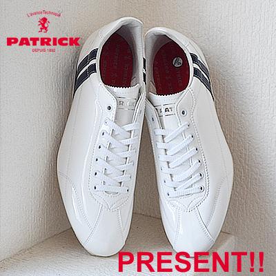 【返品無料対応】【あす楽対応】 PATRICK パトリック DATIA-EN ダチア・エナメル WH/NV ホワイト・ネイビー 靴 スニーカー シューズ 【smtb-TD】【saitama】