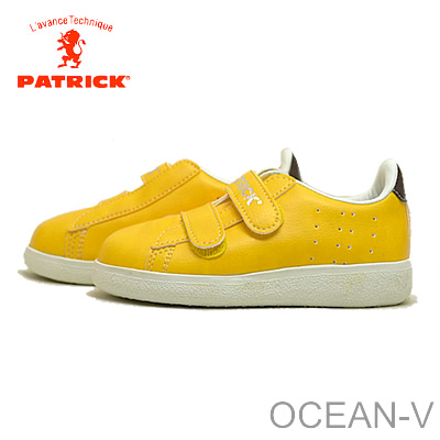 PATRICK( Patrick sneakers) OCEAN-V( ocean Velcro) YLW( yellow) 14 - 20cm (carve with 1cm) [child shoes, sneakers kids shoes]