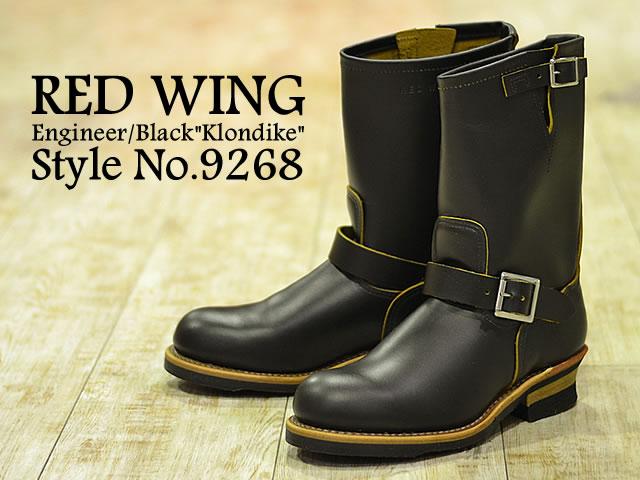 RED WING レッドウィング 9268 ENGINEER エンジニア Black Klondike ブラック クロンダイク 靴 ワークブーツ シューズ エンジニア MADE IN USA
