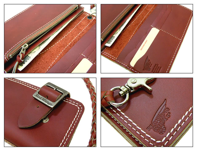 """RED WING Redwing wallet long wallet LONG WALLET Oro Russett (leather boots), with a chain."""""""