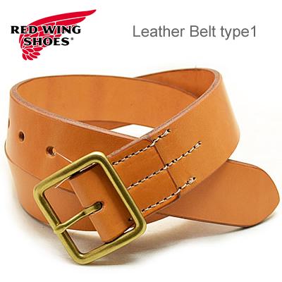 RED WING レッドウィング Heritage Belt ヘリテージベルト Leather Belt type1 レザーベルト タイプ1 【40mm幅】 Tan タン USA 米国製