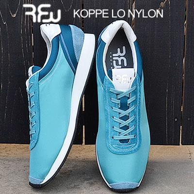 RFW アールエフダブリュー KOPPE LO NYLON コッペローナイロン BLUE ブルー 靴 スニーカー シューズ 【あす楽対応】