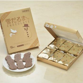 石屋製菓 雪だるまくんチョコレート ミルクチョコレート 18枚入 期間限定 お菓子 北海道 お土産 プレゼント お取り寄せ
