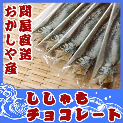 ししゃもチョコレート 6本 おかしや産 ギフト ご当地 おもしろ 北海道土産 ギフトお返し  柳葉魚 シシャモ かわいい 子供 会社 友達 ウケ狙い 面白ギフト 魚 プレゼント