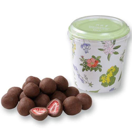 六花亭 -ろっかてい- フリーズドライの苺をミルクチョコレートで包んだ ストロベリーチョコ ミルク 北海道 お菓子 誕生日/お祝い 景品 プレゼント 税込