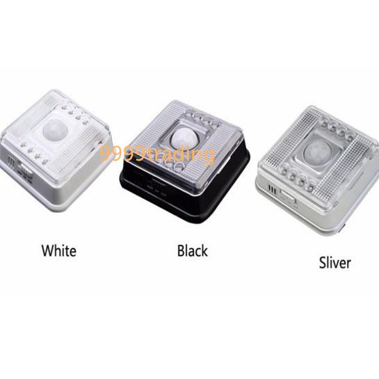 人を感知して自動で点灯するLEDのセンサーライトです スイッチひとつで 業界No.1 常時点灯 昼間でも反応して点灯 セール特別価格 暗所でのみ反応して点灯の3種類を選べます 8LED 壁掛け 格安 簡単設置 防犯 即納 人感センサー 自動点灯