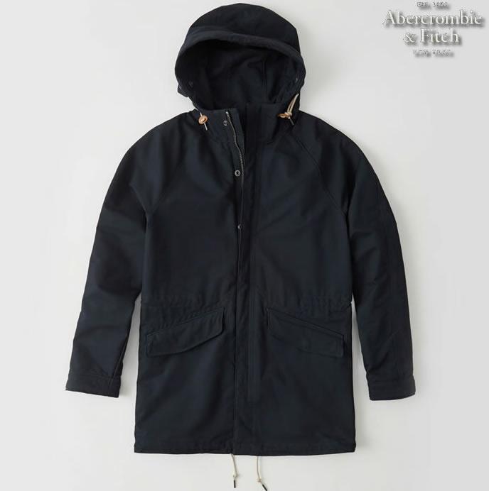 【送料無料】アバクロ Abercrombie&Fitch アバクロンビー&フィッチ【正規品】【メンズ】Mens Lightweight Parka Jacket モッズコート/Navy