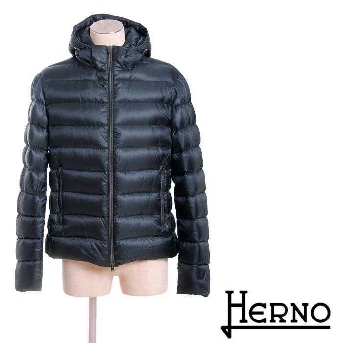 送料無料 HERNO ヘルノ 2way メンズフードジャケット 超軽量ダウンジャケット シンプルな無地 防寒バッチリ PI0301U 12051 [4125]【4800円以上送料無料】