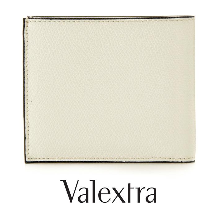 送料無料 Valextra ヴァレクストラ 二つ折り財布 ホワイト 白 イタリア製 V8L23_028_RD小銭入れ付財布 メンズ・レディース男女共用バレクストラ [4160]【4800円以上送料無料】