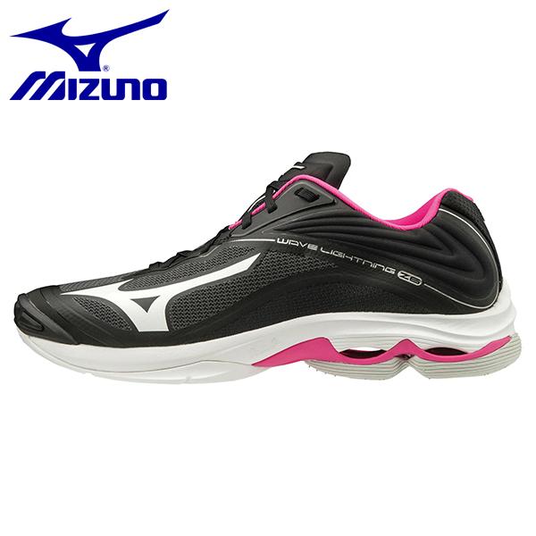 ミズノ バレーボールシューズ ウエーブライトニングZ6 ブラック×ホワイト×ピンク ユニセックス MIZUNO V1GA2000-60