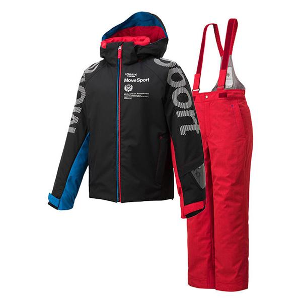 デサント スキー ジュニアスーツ(18FW) ムーブスポーツ DESCENTE SKI JUNIOR SUIT MOVE SPORT DWJMJH91-BLK