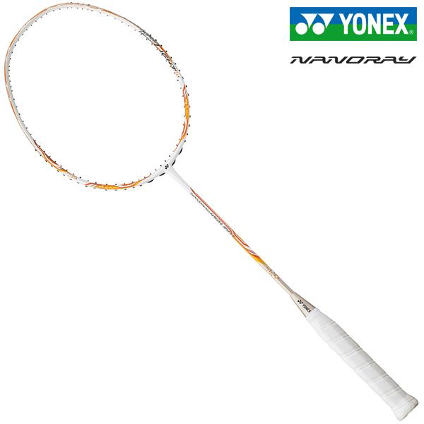 ヨネックス バドミントンラケット ナノレイ450ライト ホワイト/オレンジ YONEX NANORAY 450 LIGHT NR450LT-386
