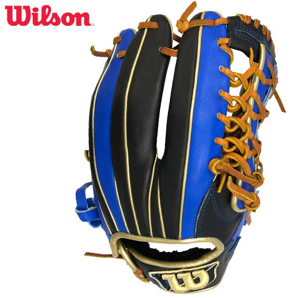 ウィルソン 展示会限定 一般軟式用グラブ ディーマックス・カラー オールラウンド用 ブラック/ブルー Wilson D-MAX COLOR WTARDE5LF-9045