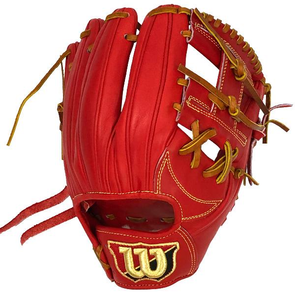 ウィルソン 硬式用グラブ Wilson Staff 内野手用 ワイドポケット型 Eオレンジ Wilson WTAHWS69H-22