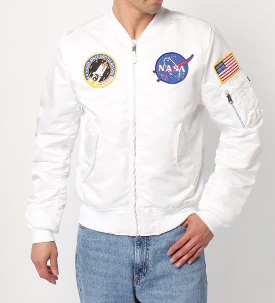 アルファインダストリーズ L-2B NASA ホワイト ALPHA INDUSTRIES TA0135-218