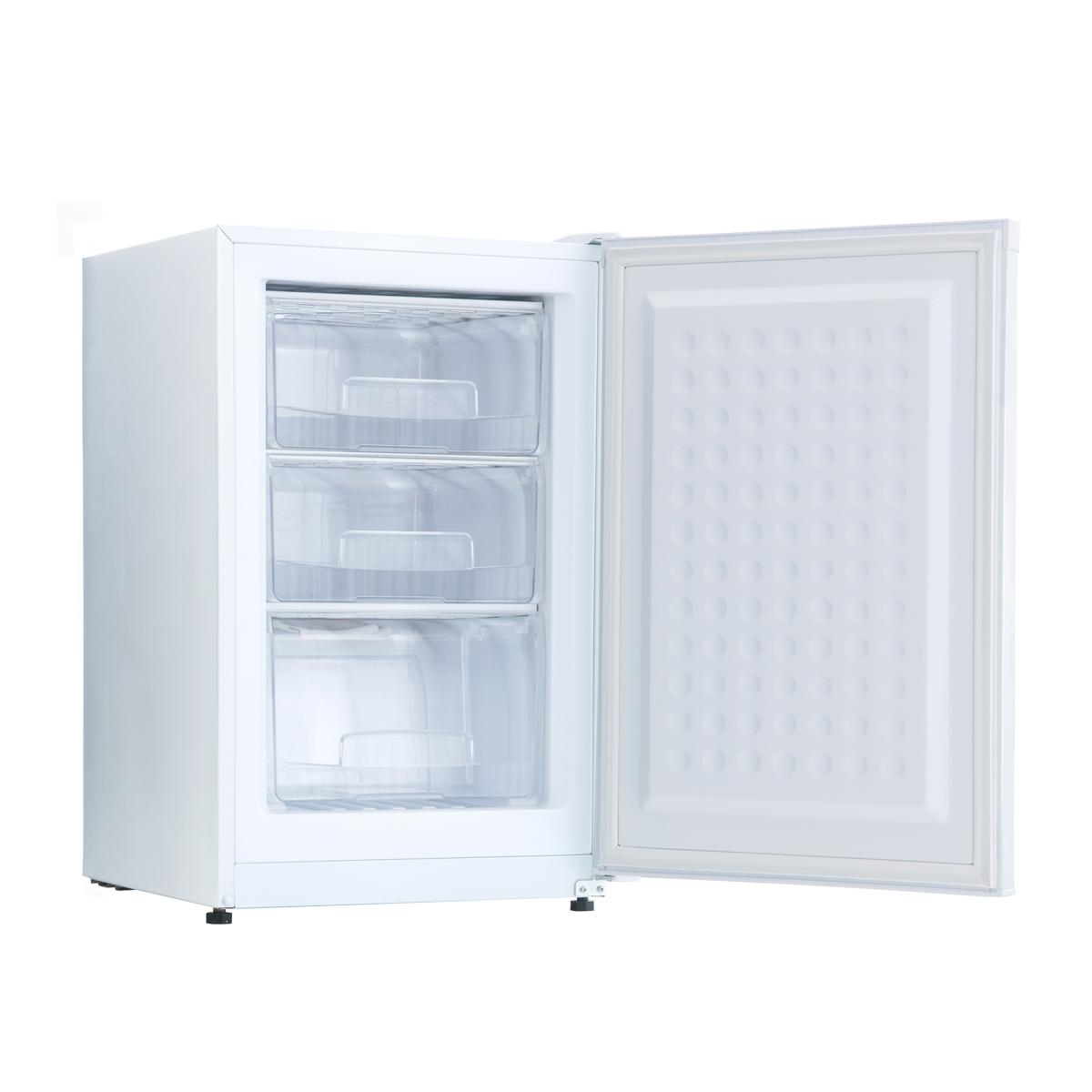 冷凍庫 フリーザー 冷凍ストッカー キッチン家電 冷凍食品 作り置き おかず 静音 商品 スリム 大容量 たっぷり収納できるからまとめ買いもOK 食品の大量ストックにおすすめ 小型 家庭用 82L 前開き 3段引き出し シンプル 2020秋冬新作 AR-BD86-NW 新生活 ホワイト 白 ミニ冷凍庫 まとめ買い アレジア ギフト ALLEGiA 一人暮らし 備蓄 小型冷凍庫 業務用 右開き