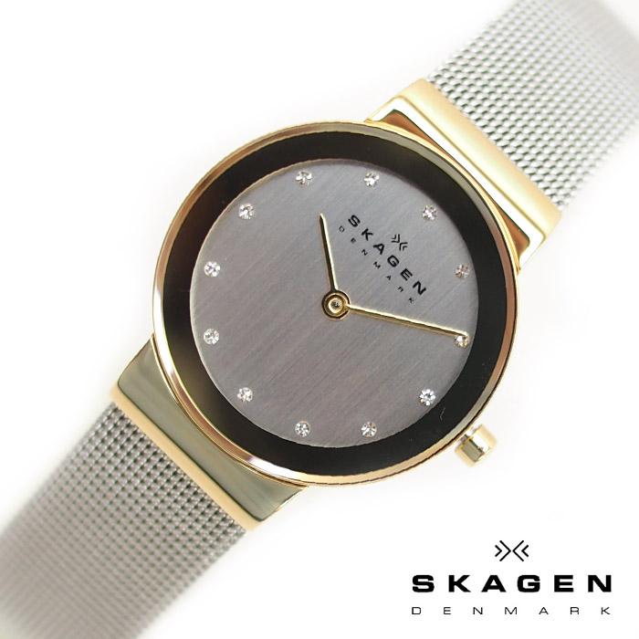 SKAGEN スカーゲン レディース 腕時計 26mm シルバー×ゴールド 358SGSCD スカーゲン 腕時計 レディース