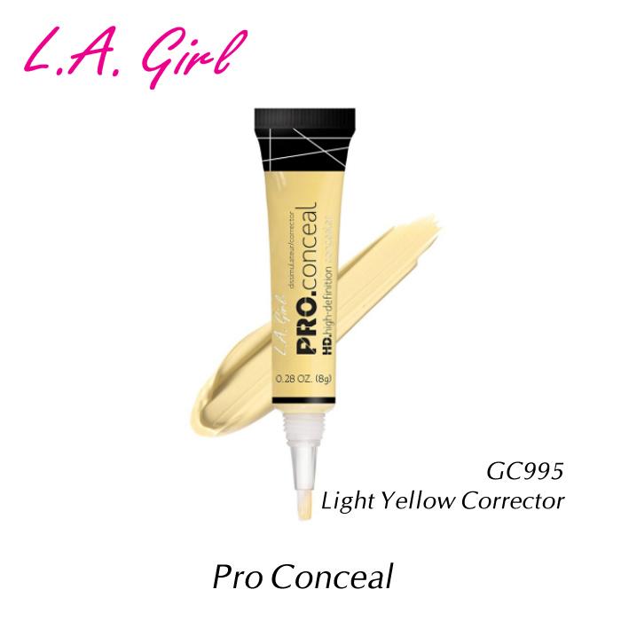 シミ WEB限定 赤味 毛穴のカバーに メール便可 L.A.girl エルエーガール Yellow GC995 8g Corrector Light プロコンシーラー 大人気