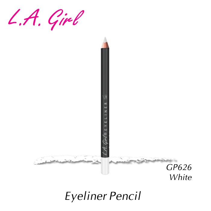 使いやすいペンシルタイプ メール便可 公式サイト エルエーガール アイライナーペンシル GP626 L.A.girl White Pencil 特価 Eyeliner