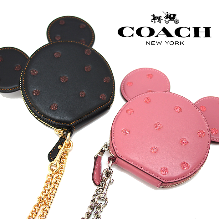 COACH×DISNEY コーチ×ディズニー ミニーマウスコインケース 全2色 Boxed Minnie Mouse Coin Case コーチ 財布