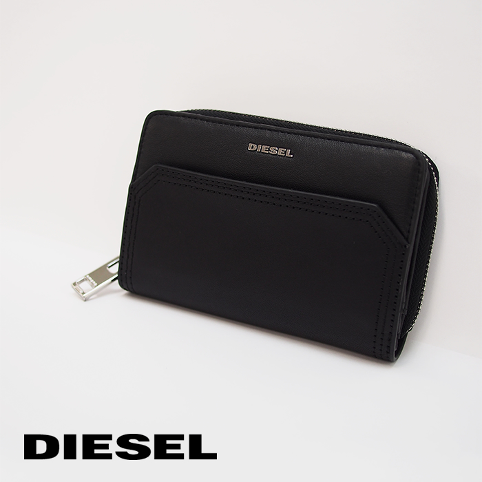 DIESEL ディーゼル レディース二つ折り財布 ミニ財布 BUSINESS LC ブラック X06516 P1743 ディーゼル レディース ディーゼル 財布