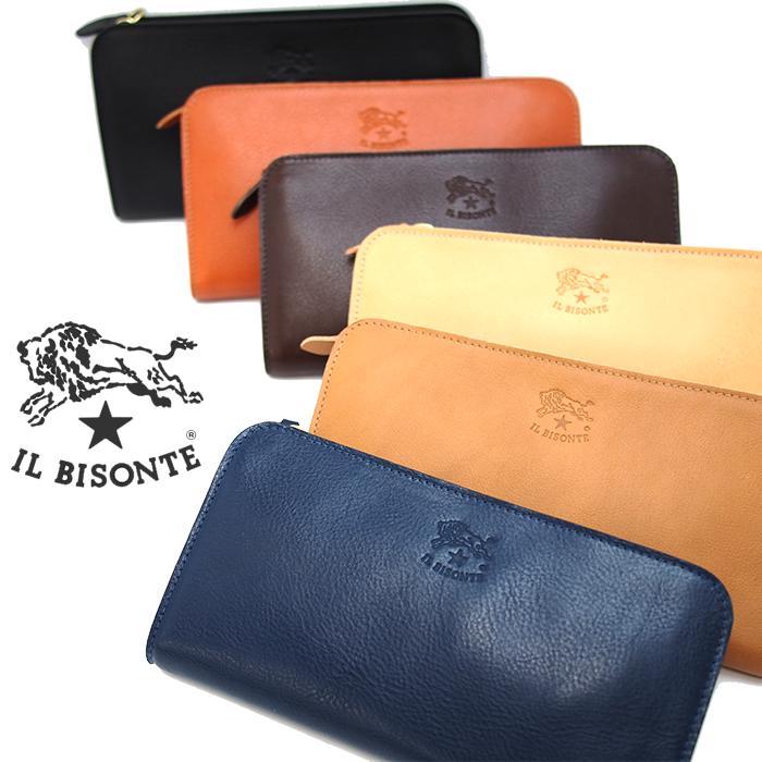 IL BISONTE イルビゾンテ L時ファスナー長財布 C0909 全6色 イルビゾンテ 財布