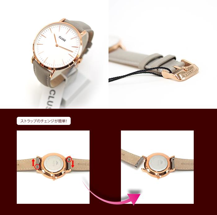 CLUSE クルース 腕時計 レディース 革ベルト  La Boheme ラ・ボエーム ローズゴールド 38mm  レザー ウォッチ 全9デザイン