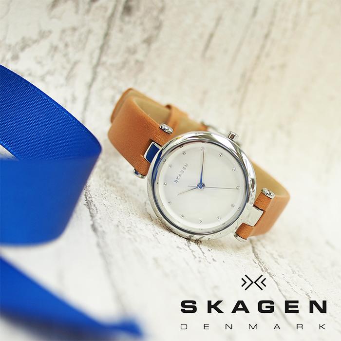 SKAGEN スカーゲン TANJA ターニャ レディース 腕時計 30mm シルバー×ライトブラウン SKW2455 スカーゲン 腕時計 レディース