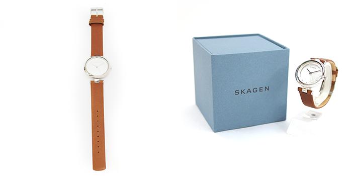 SKAGEN スカーゲン TANJA ターニャ レディース 腕時計 30mm シルバー×ブラウン SKW2458 スカーゲン 腕時計 レディース