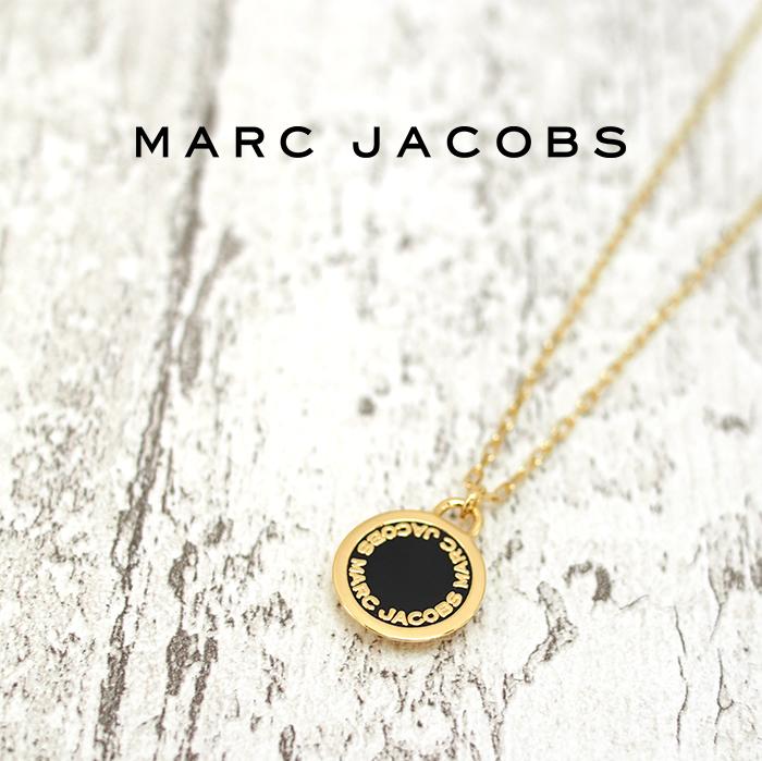 MARC JACOBS マークジェイコブス ネックレス ENAMEL M0008546 マーケティング ゴールド×ブラック DISC 062 マークバイマークジェイコブス 市場