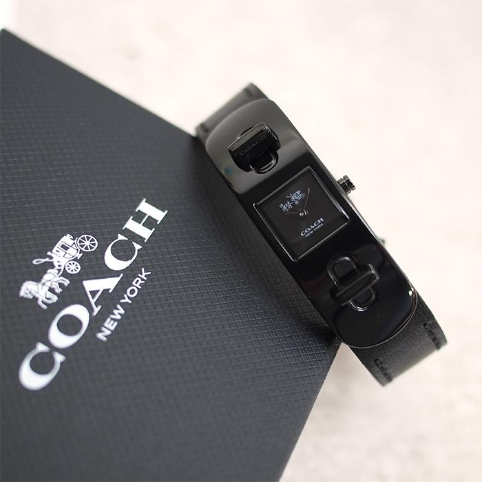 COACH コーチ レディース腕時計 革ベルト SWAGGER スワッガー ブラック ウォッチ 14502225