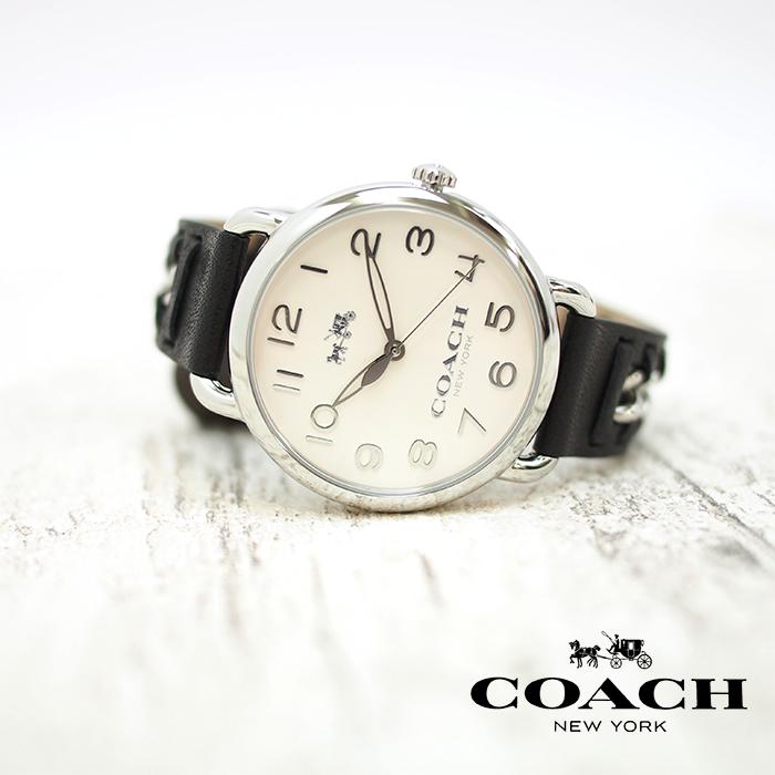COACH コーチ 腕時計 レディース 革ベルト DELANCEY デランシー ブラック 36mm レザー ウォッチ 14502272